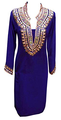 Desi Sarees Womens Latest Indian Chiffon Tunic Kurti 6090 (4.