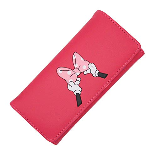 LSFYHC Karton Bogen Dame Brieftasche Handtasche Dame Brieftasche Leder Geld münze Brieftasche Karte ausweisinhaber karikaturdruck