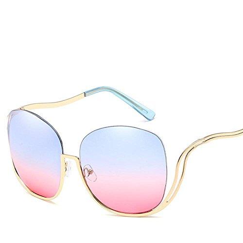 Aoligei Europe et États-Unis Prince miroir rond couleur film lunettes de soleil printemps jambe tendance de la mode des lunettes de soleil Sungl Asses Mso1Xb1
