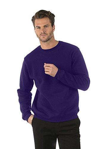 Bruntwood Klassisches Sweatshirt mit Rundhalsausschnitt - Classic Crew Neck Sweatshirt - Herren & Damen - 280GSM - Baumwolle/Polyester (Violett, L) Classic Ribbed Pullover