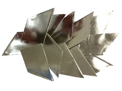12x Silver Metallic Party Hats Christmas Parties