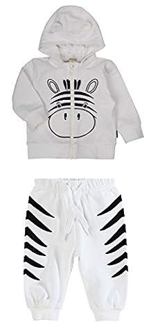 Nom du nouveau-né It Off Zebra Sweatpants & Hoodie Set - 2 - 4 Months / 62 cms