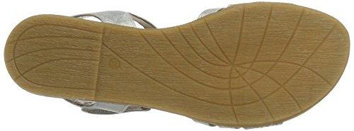 Jana 28114, Sandales Bout Ouvert Femme Argent (Silver 941)