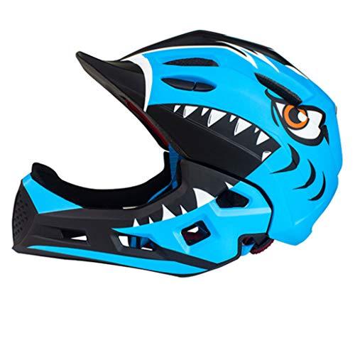 XRQ Casco Integrale Casco da Bici Casco da Bici Casco Traspirante Bambini E Uomini Casco Regolabile Auto Equilibrio Rullo Scorrevole per Bambini 5 Colori tra Cui Scegliere (48-54 Cm),Blue1,S