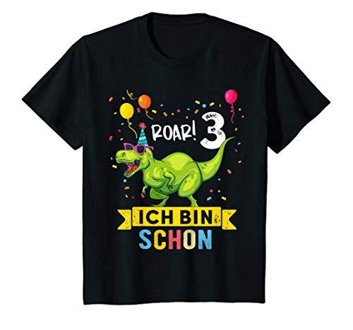 Kinder 3 Jahre Geburtstag Dinosaurier Jungen Mädchen Dino T-Shirt - Geburtstag Bekleidung