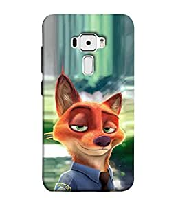 PrintVisa Designer Back Case Cover for Asus Zenfone 3 ZE552KL (5 Inches) (wolf in a police uniform)
