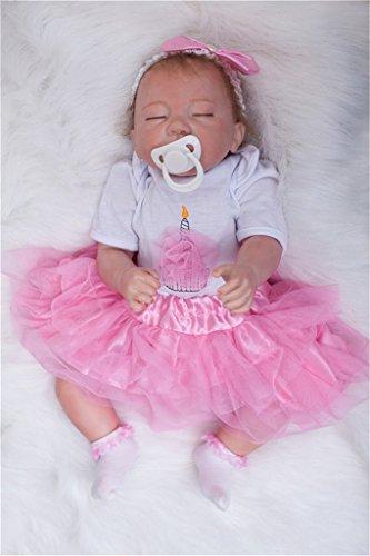 Echtes Leben hübsch wie eine Prinzessin schläfrige Silikon Vinyl Wiedergeborene Baby Mädchen Puppen
