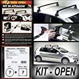 Superauto Kit + Barres de Toit Railing Open Volkswagen Golf iV 5 Portes de 1998 à...
