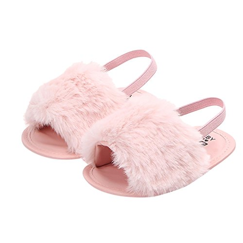 jieGREAT ❤❃ Räumungsverkauf ❤❃, Neugeborenes Baby Letter Solid Flock Soft Sandals Slipper Casual Shoes -