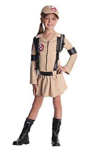 Rubie 's Offizielles Girl 's Ghostbusters Kleid mit Rucksack, Kind Kostüm–groß (Ghostbusters Kostüm Rucksack)
