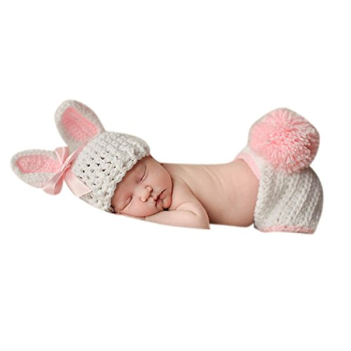 Babymoon ( SET OF 2 ) Baby Rabbit Designer Crochet Clothing / Best Costume / Photography Props / Best Baby shower Gift