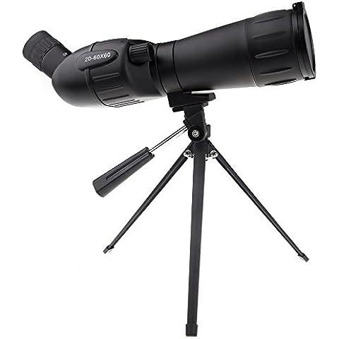 rybyte (TM) Reino Unido Top calidad 20–60x 60Zoom Monocular Telescopio Mono con versión nocturna portátil trípode telescopio para Camping Caza