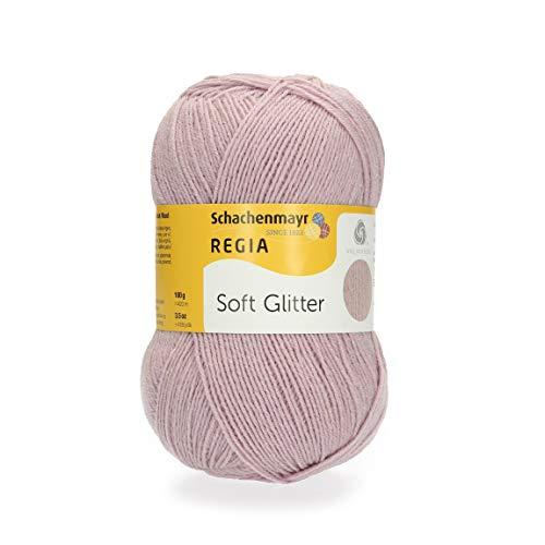 REGIA 4-fädig Soft Glitter 9801176-00031 dusky pink Handstrickgarn, Sockengarn, 100g Knäuel