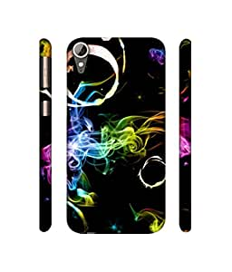 Rabotac Smoke Coloured Ring Design 3D Printed Hard Back Case Cover for HTC Desire 830
