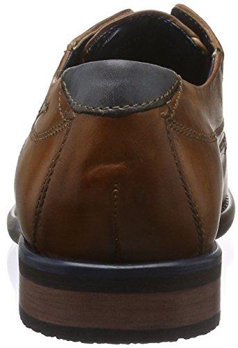 bugatti Herren 311185012100 Derby Braun (Cognac 6300)