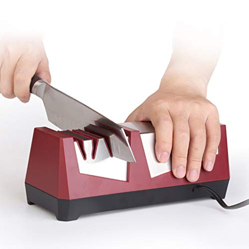 QNJM Elektrischer Messerschärfer, Hochleistungs-Küchenmesserschärfer - 3-Stufen-Schärfsystem Mit...