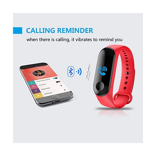 GerTong Fitness Tracker Reloj inalámbrico con pantalla colorida resistente al agua con podómetro para iPhone, Samsung… 3