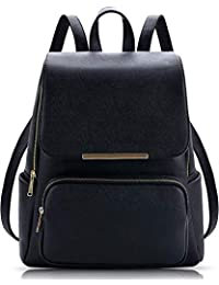f78519dfcf17 Levent Black Casual Backpack Stylish Girls School Bag College Bag Casual Backpack  Handbag girls synthetic Backpack