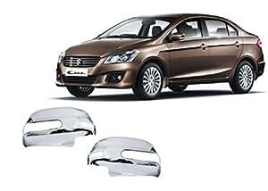Auto Pearl - Premium Quality Chrome Plated Mirror Cover for - Maruti Suzuki Ciaz - Set of 2 Pcs.
