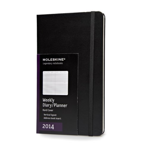 2014 Moleskine Large Diary Weekly Vertical Hard (Moleskine Diaries) (Planners & Datebooks) -