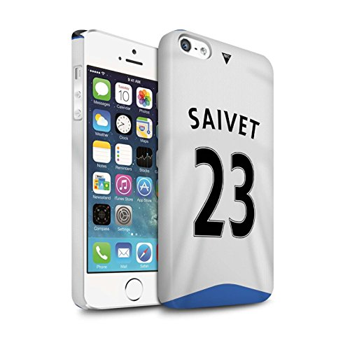 Offiziell Newcastle United FC Hülle / Matte Snap-On Case für Apple iPhone 5/5S / Pack 29pcs Muster / NUFC Trikot Home 15/16 Kollektion Saivet