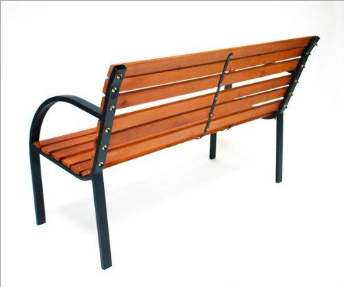 DEMA Parkbank Modern 122 cm Holz/Metall - 2