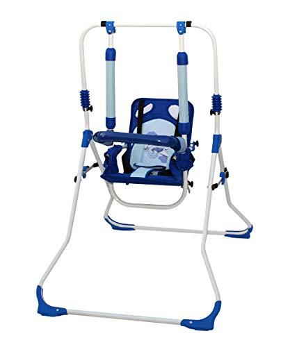 Clamaro 2 in 1 Babyschaukel \'SWING\' Indoor Baby Schaukel und Hochstuhl in einem, Sicherheitsgurt mit Bügel, gepolsterter Sitz, kompakt zusammenklappbar - Motiv: Flugzeug