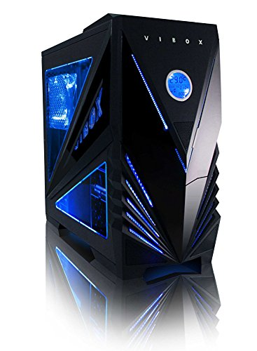 "VIBOX Black-Ice LA6-276 PC Gaming Computer con War Thunder Voucher di Gioco, Windows 10 OS, 22"" HD Monitor (3,8GHz AMD A6 Dual-Core Processore, Radeon R5 Grafica Chip, 32GB DDR4 RAM, 1TB HDD-SSD)"
