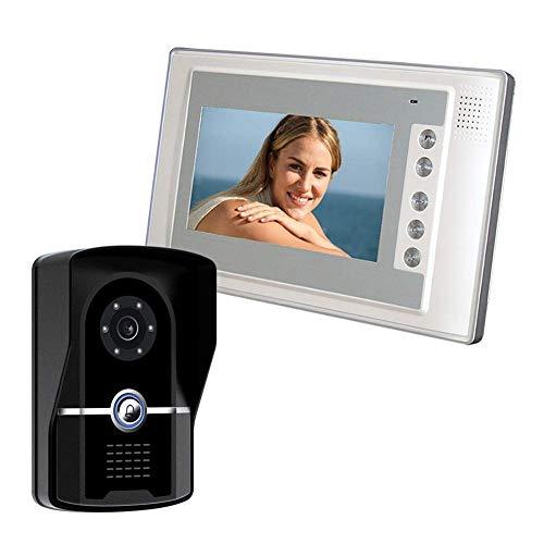 XHZNDZ 7 Zoll Wireless/Smart IP-Video-Türsprechanlage Intercom System Türklingel Entry System mit 1x1200TVL verdrahtete Türkamera für 1-Familienhaus Ip-intercom