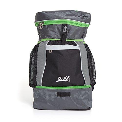 Zoggs Bolsa de triatlón unisex, tamaño mediano, color negro, gris y verde