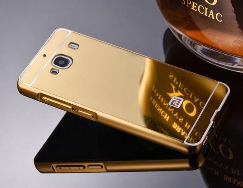 SDO™ Metal Bumper Frame Case with Acrylic Mirror Back Cover Case for Xiaomi Redmi 2/Redmi 2 Prime - Gold