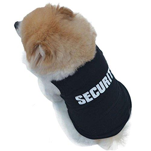 2018 Neue Mode Haustier Hund Hoodie Rosennie Sommer niedlichen Hund Haustier Weste Welpen gedruckt Baumwolle T-Shirt hundegeschirr Brief Drucken Hunde Kleidung Hundebekleidung Police Cosplay (XL, Schwarz) (Police Schwarz Gedruckt)