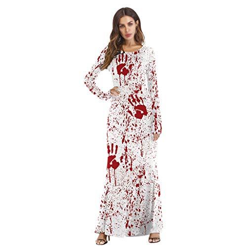 Charakter Tanz Kostüm - Jsmily Halloween Kostüm Charakter Verkleiden Sich Kürbis Licht Langarm Kleid (Color : White, Size : S/M)