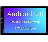 Tristan Auron BT2D7018A Android 9.0 Autoradio mit Navi I 7'' Touchscreen Bildschirm I Bluetooth Freisprecheinrichtung I Quad Core GPS USB SD OBD 2 DAB+ - 2 DIN