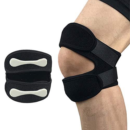 Limiss Sportknieschützer, Knieschmerzlinderung bei Arthritis, Läuferknie, Springerknie, Sehnenentzündung und Volleyball,Black -