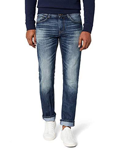 TOM TAILOR Herren MARVIN Straight Jeans , Blau (Mid Stone Wash Denim 1052) , W34/L32