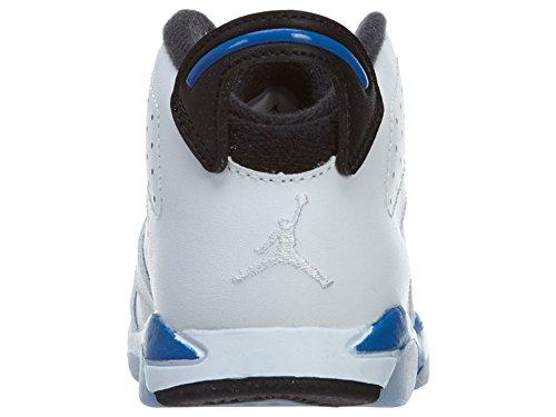Nike Jordan 6Retro BT, Scarpe unisex bambino White / Blue / Black (White / Sport Blue-Black)