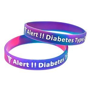 Medicaband® Medizinisches Notfallarmband Typ 2, Silikon, Violett, 3 Stück
