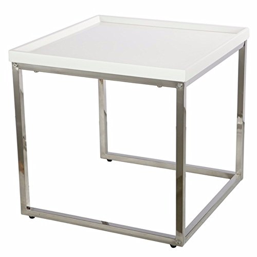 Benzara Compactly Striking Nesting Table White -