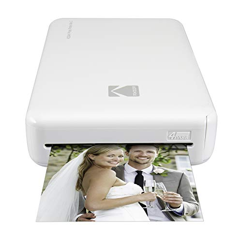 Kodak Mini 2 HD Wireless Mobile Instant Fotodrucker w / 4 Pass patentierte Drucktechnologie (Weiß) - Kompatibel mit iOS & Android Geräte - Echte Tinte in Einem Instant