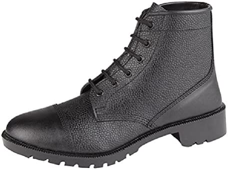 Grafters Men's 6 Eyelet Leather Cadet Boots