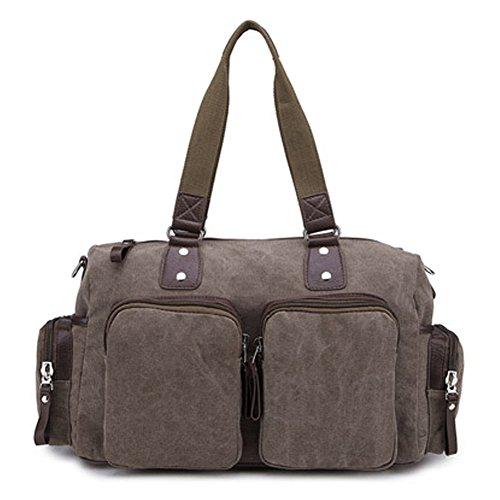 Outdoor peak Unisex Canvas Vintage Retro Tagetasche Schultertasche Handtasche Daypacks Messenger Bag Kuriertaschen Freizeittasche Reisetasche Schultasche Khaki