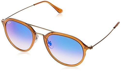Ray Ban Unisex-Erwachsene Sonnenbrille RB4253, Mehrfarbig (Gestell: Braun,Gläser: Blau-Verlauf 62388B), Medium (Herstellergröße: 53) (Gafas De Sol Ray Ban)