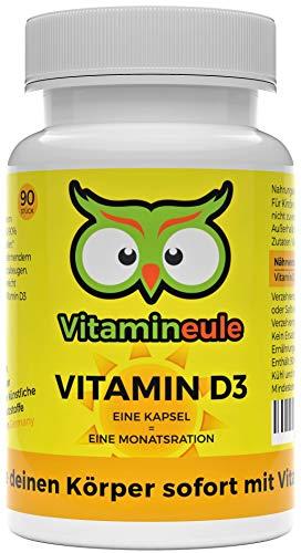 Vitamin D3 Kapseln (Cholecalciferol) - hochdosiert & vegan - 30.000 i.E. - ohne künstliche Zusatzstoffe - Qualität aus Deutschland - kleine Vitamin D 3 Kapseln statt große Tabletten - Vitamineule®