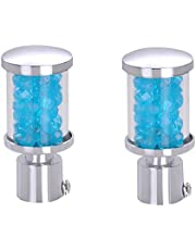 Taj Blue Pearl Fancy Curtain Finial with Support (Sky Blue)-Pack of 4