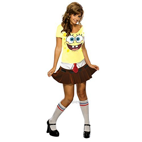 Unbekannt Damen Sponge Babe Rubies Party Outfit Maskenkostüm -