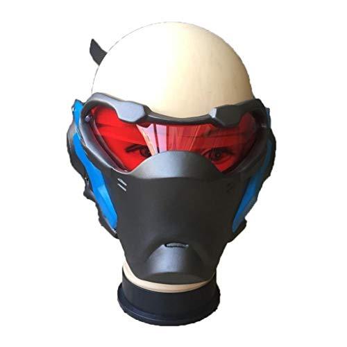 LXIANGP Overwatch OW Soldier 76 Waffe Cosplay Luminous Mask Prop Leuchtende Halloween-Weihnachtsparty