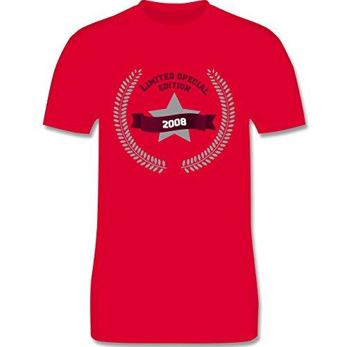 Geburtstag - 2008 Limited Special Edition - Herren Premium T-Shirt Rot