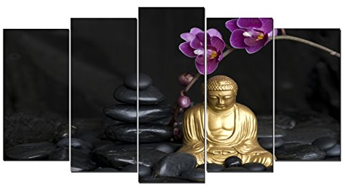 DekoArte 112 – Cuadro moderno, Buda Zen, 150 x 80 cm