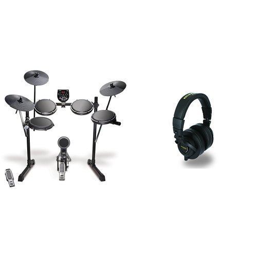 Preisvergleich Produktbild Alesis DM6 USB Kit Fünfteiliges elektronisches Drumset mit Dual-Zone Snare, USB MIDI Drumsound Modul, Drum Sticks + Marantz Professional MPH-2 50mm Over-Ear Monitoring Studiokopfhörer Bundle